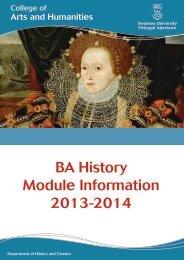 BA History Module Information 2013