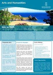 MA in TEFL - Swansea University