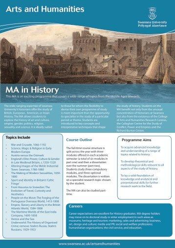MA in History - Swansea University