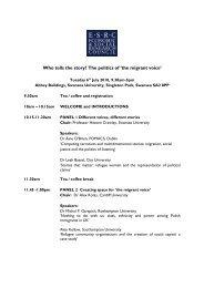 ESRC seminar 5 programme - Swansea University