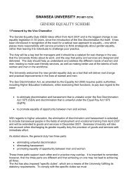 Gender Equality Scheme - Swansea University