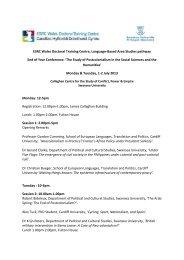 draft programme - Swansea University