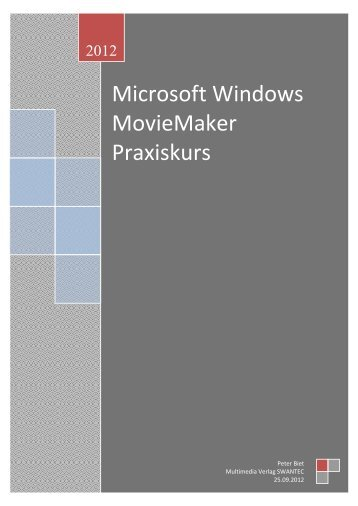 Windows 7/8 MovieMaker.pdf - Swantec