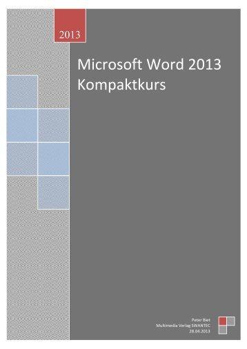 Word 2013 Kompaktkurs.pdf - Swantec