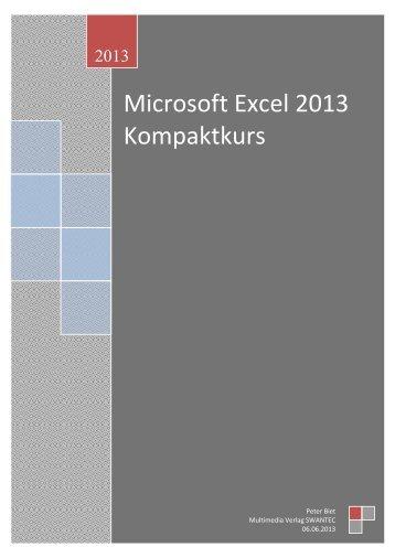 Microsoft Excel 2013 Kompaktkurs - Swantec