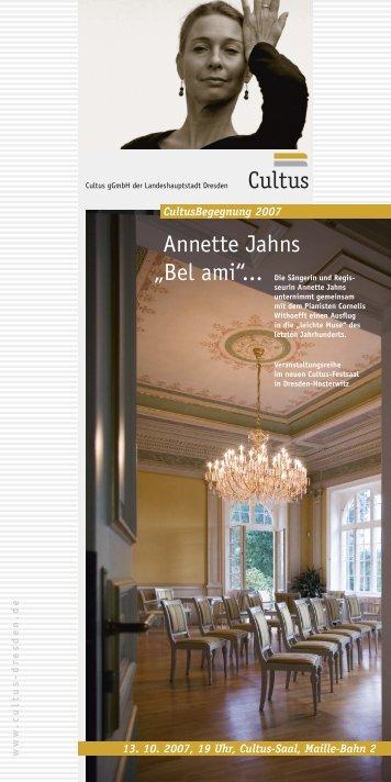 """CultusBegegnung Annette Jahns: """"Bel ami ... - Cultus gGmbH Dresden"""
