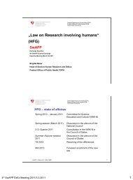 Verfassungsartikel über die Forschung am Menschen - SwAPP