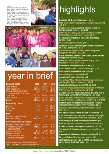 WDHS Annual Report 2005 - SWARH