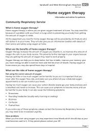 Home oxygen therapy - Sandwell & West Birmingham Hospitals