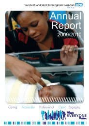 Annual Report 2009/10 - Sandwell & West Birmingham Hospitals