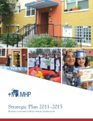 MHP Strategic Plan - Montgomery Housing Partnership