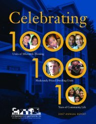 MHP 2007 Annual Report - Montgomery Housing Partnership