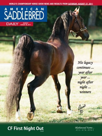 SADDLEBRED - American Saddlebred Horse Association