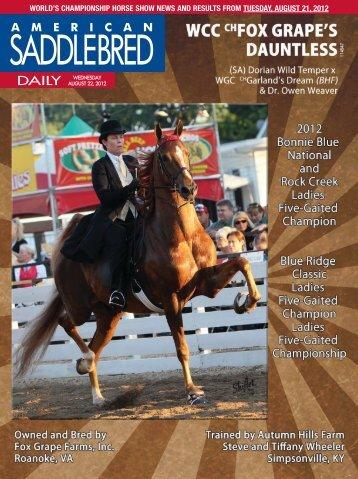 Wednesday - American Saddlebred Horse Association