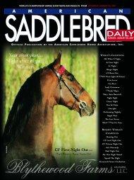 SUNDAY ISSUE - American Saddlebred Horse Association