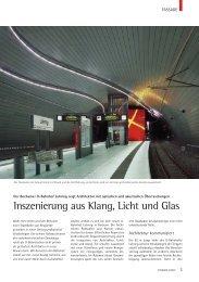 Der Bochumer U-Bahnhof Lohring zeigt Architektur mit - Fassade