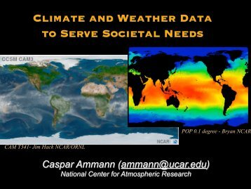 Climate and Weather Data to Serve Societal Needs