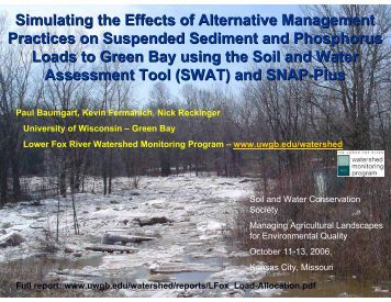 Stressors in Aquatic Ecosystems - Soil and Water Conservation ...