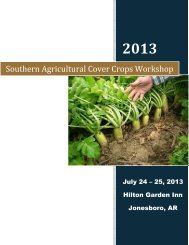 Southern Agricultural Cover Crops Workshop - Soil and Water ...