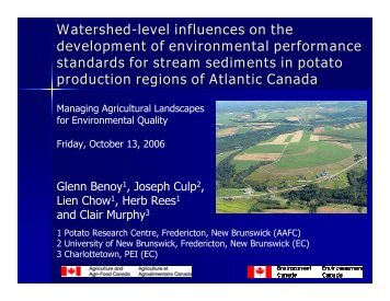 Benoy, Glenn - Soil and Water Conservation Society
