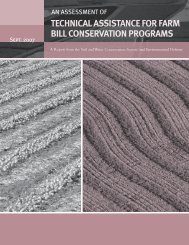 technical assistance for farm bill conservation programs