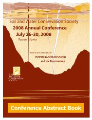 Abstract 08.doc - Soil and Water Conservation Society