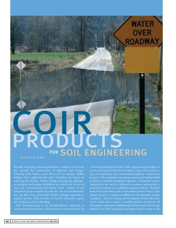 Soil And Water Conservation Of Soil Layering With Coir Blocks Rolanka International Inc