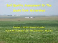 Soil Quality Assessment In The South Fork Watershed