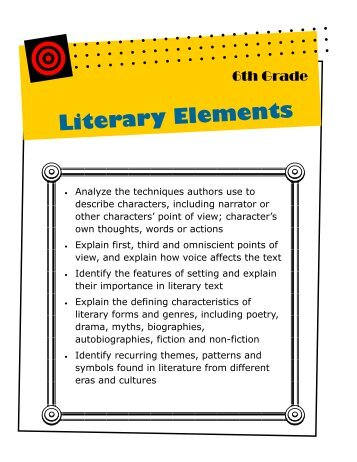 The Following Chart Shows The Literary Elements And Integrated