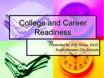 College and Career Readiness - South-Western City Schools!