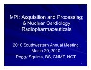 MPI: Acquisition and Processing; & Nuclear Cardiology ...