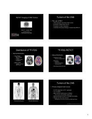 PET/CT in Brain Tumor and Head and Neck Imaging