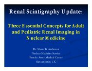 Renal Scintigraphy Update: