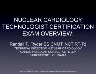 nuclear cardiology technologist certification exam overview