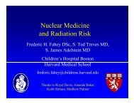 Nuclear Medicine and Radiation Risk