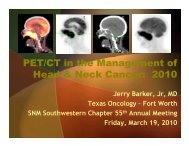 PET/CT in the Management of Head & Neck Cancer - Southwestern ...