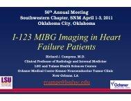 I-123 MIBG Imaging in Heart Failure Patients - Southwestern ...
