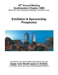 Exhibition & Sponsorship Prospectus - Southwestern Chapter of the ...