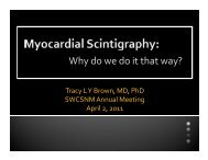 Cardiac Scintigraphy: Why do we do it that way?