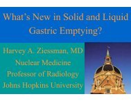 What's New in Solid and Liquid Gastric Emptying?