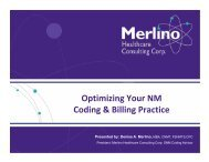 Optimizing Your NM Coding & Billing Practice - Southwestern ...