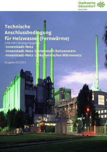 Technische Anschlussbedingung für Heizwasser (Fernwärme)