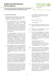 Ergänzende Bedingungen für Fernwärme - Stadtwerke Düsseldorf ...