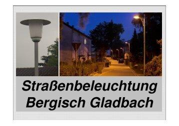 Straßenbeleuchtung Bergisch Gladbach