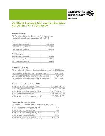 27 Absatz 2 Nr. 1-7 StromNEV - Stadtwerke Düsseldorf Netz GmbH