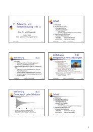 V. Aufwands- und Kostenschätzung (Teil 1) Inhalt Einführung 1(3 ...