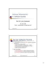 II-Software-Qualität - Gruppe Softwaretechnik für Verteilte Systeme