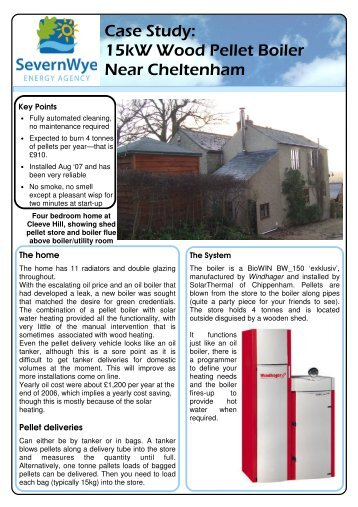 Casestudy - Barr pellet boiler 2 - Severn Wye Energy Agency
