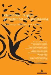 Världsbilder, religion, yttrandefrihet och ... - Sweden Abroad