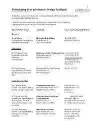Förteckning över advokater i Berlin - Sweden Abroad